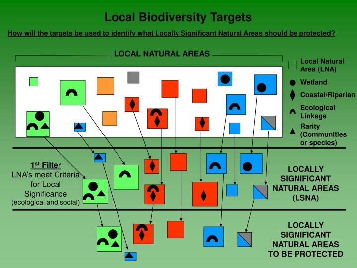 Local Biodiversity Targets