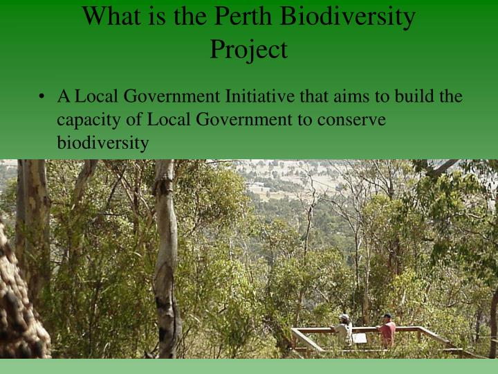 What is the Perth Biodiversity Project