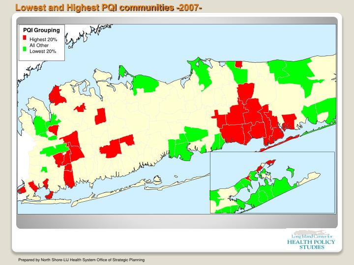 Lowest and Highest PQI communities -2007-