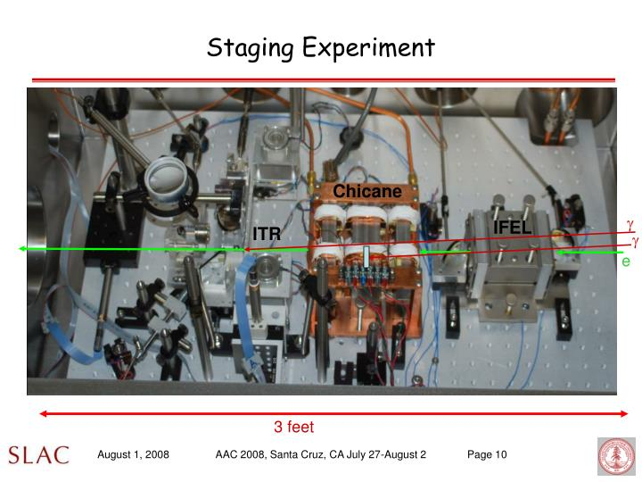 Staging Experiment