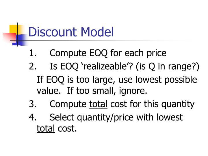 Discount Model