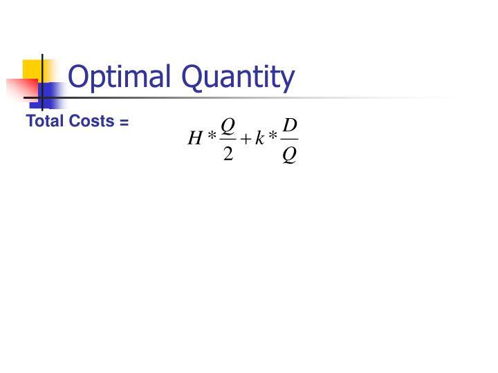 Optimal Quantity