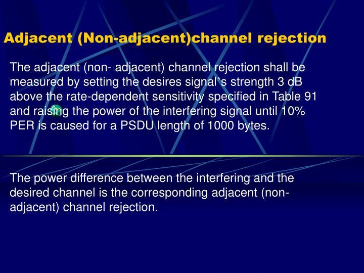 Adjacent (Non-adjacent)channel rejection