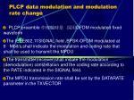 plcp data modulation and modulation rate change