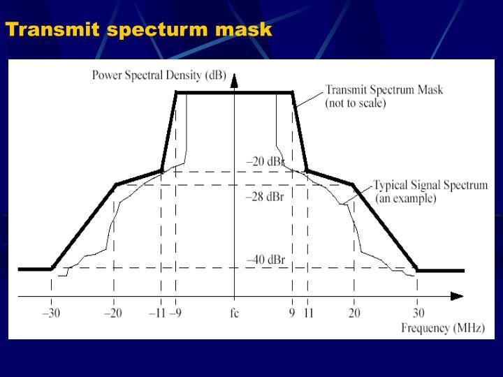 Transmit specturm mask