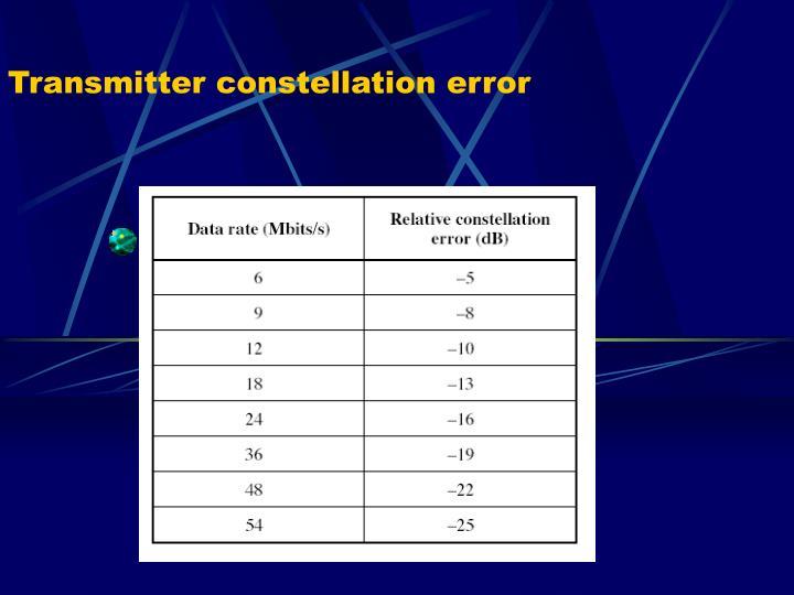 Transmitter constellation error