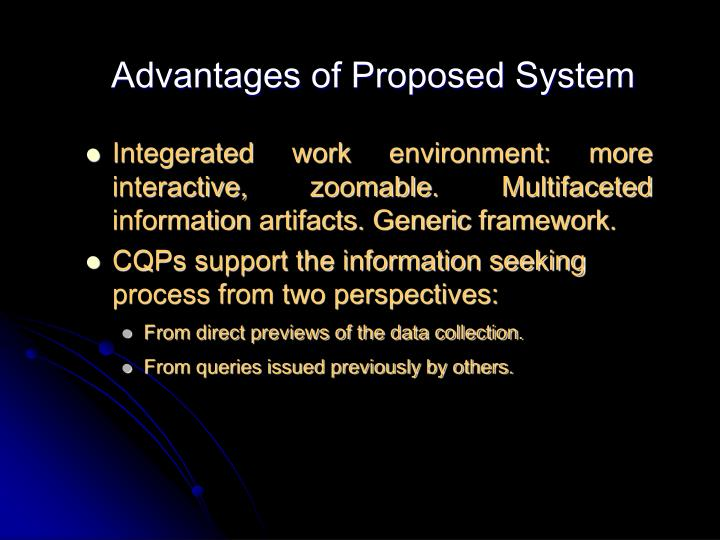 Advantages of Proposed System