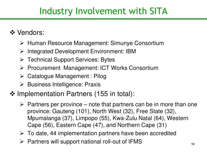 Industry Involvement with SITA