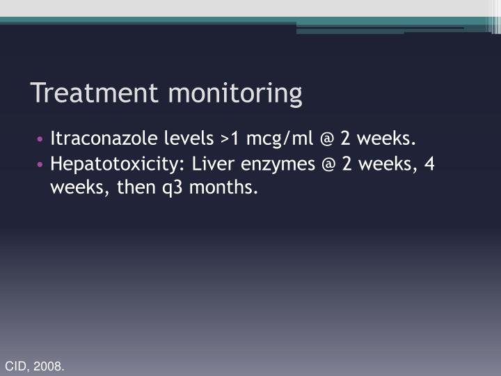 Treatment monitoring