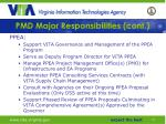 pmd major responsibilities cont1