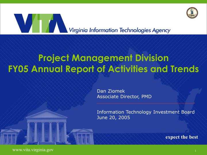project management division fy05 annual report of activities and trends
