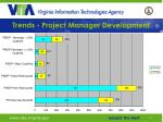 trends project manager development
