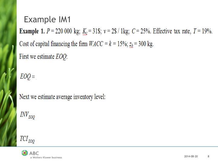 Example IM1
