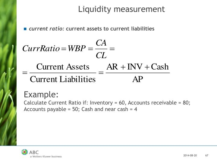 Liquidity measurement
