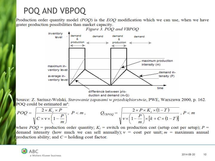 POQ AND VBPOQ