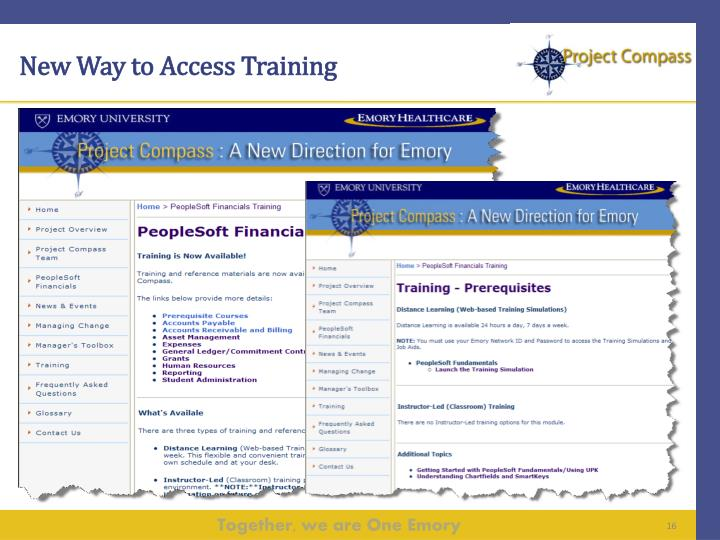 New Way to Access Training