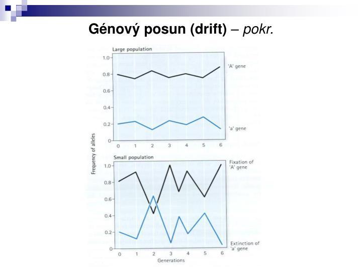 Génový posun (drift)