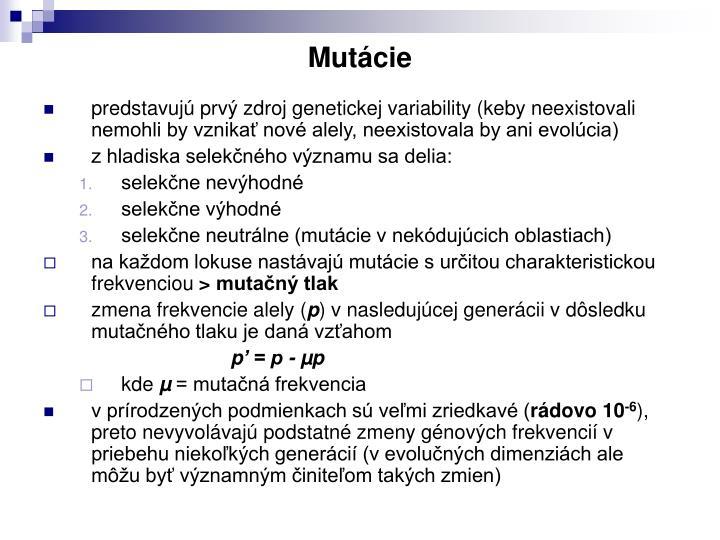Mutácie