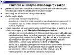panmixia a hardyho weinbergerov z kon