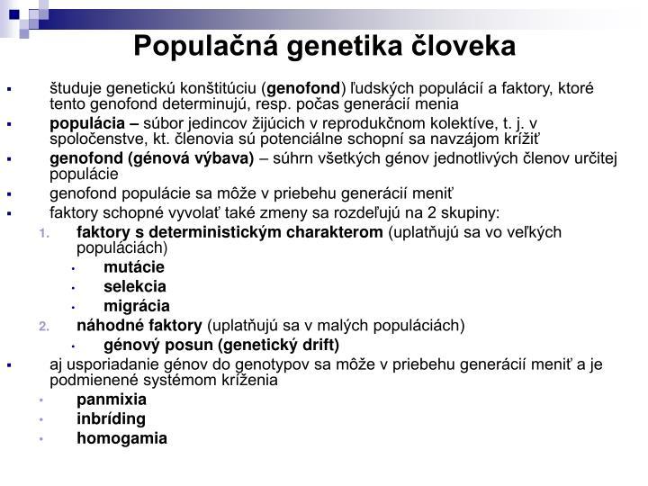 Populačná genetika človeka