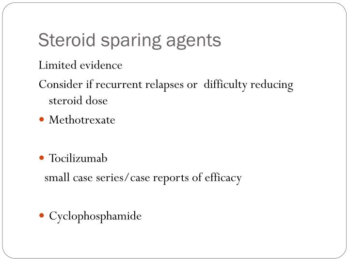 Steroid sparing agents