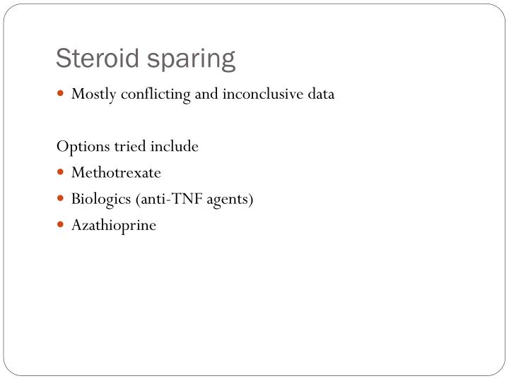 Steroid sparing