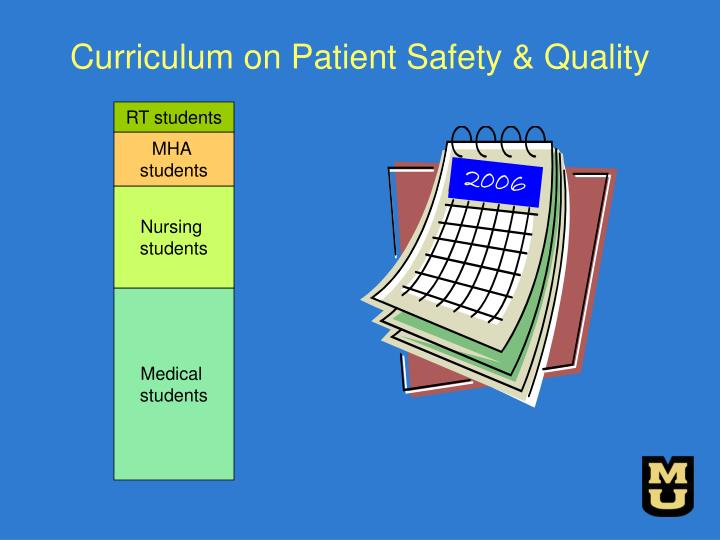 Curriculum on Patient Safety & Quality