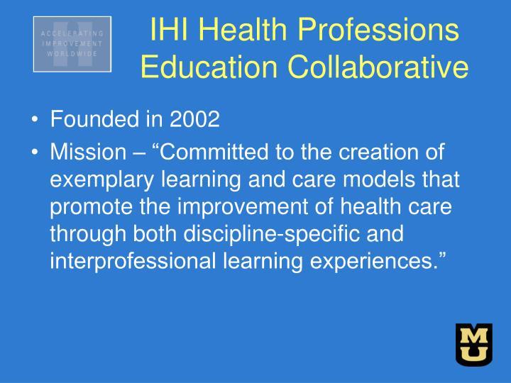IHI Health Professions Education Collaborative