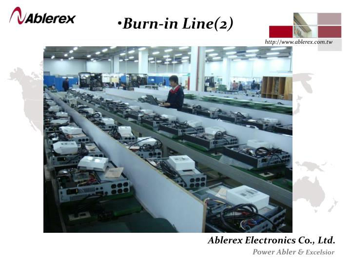 Burn-in Line(2)