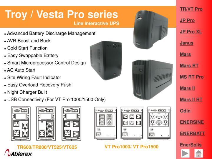 Troy / Vesta Pro series