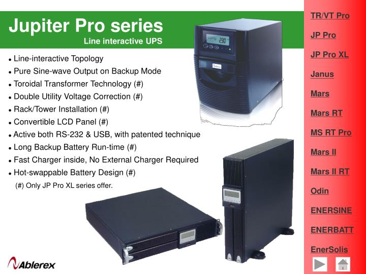 Jupiter Pro series