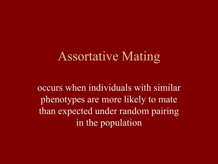 Assortative Mating