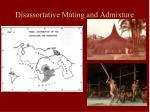 disassortative mating and admixture1