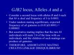 gjb2 locus alleles a and a2