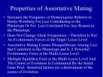 properties of assortative mating