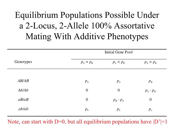 Equilibrium Populations Possible Under a 2-Locus, 2-Allele 100% Assortative Mating With Additive Phenotypes