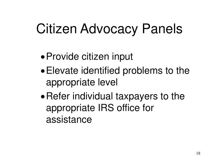 Citizen Advocacy Panels