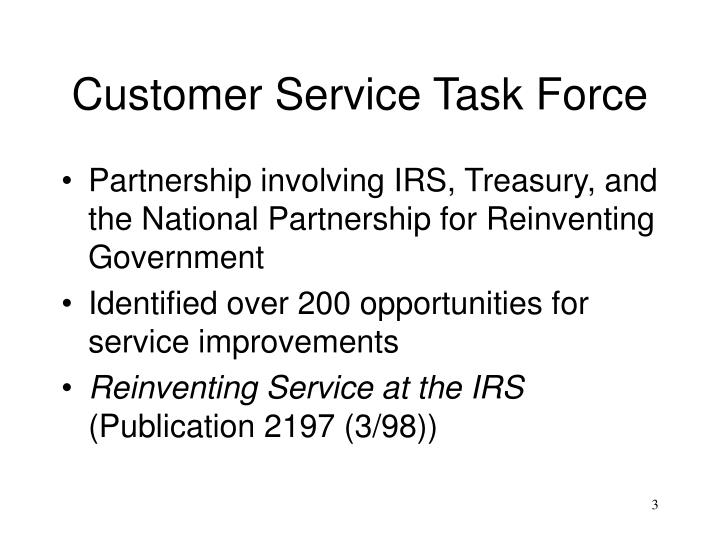 Customer service task force