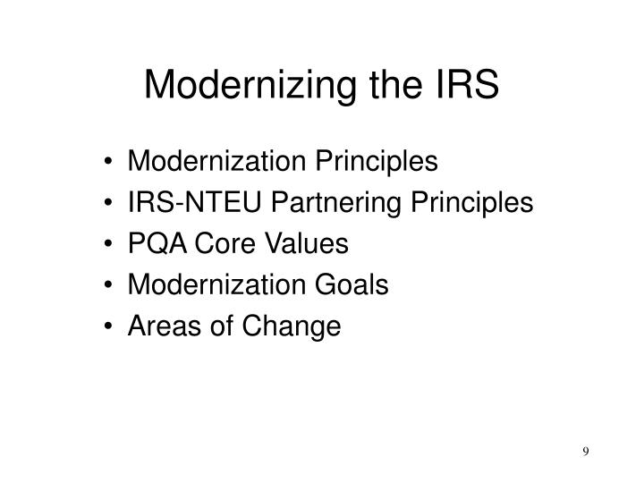 Modernizing the IRS