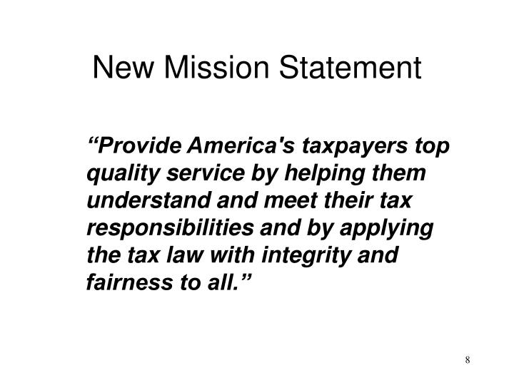 New Mission Statement