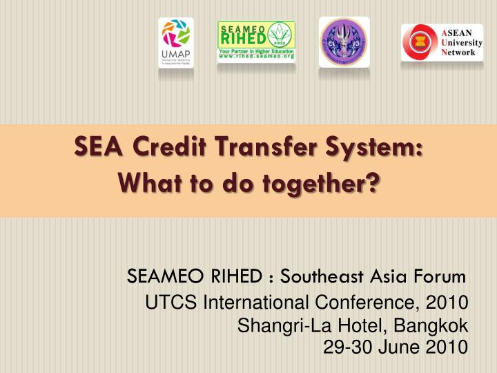 SEA Credit Transfer System: