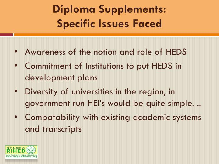 Diploma Supplements: