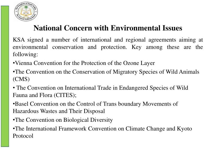 National Concern with Environmental Issues