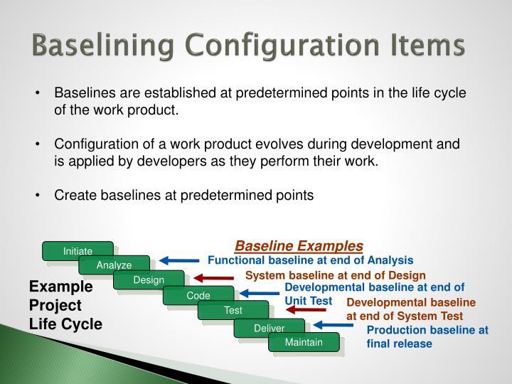 Baselining Configuration Items
