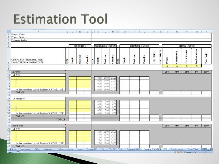 Estimation Tool