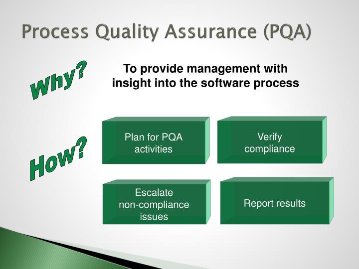 Process Quality Assurance (PQA)