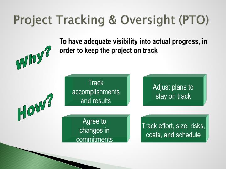Project Tracking & Oversight (PTO)