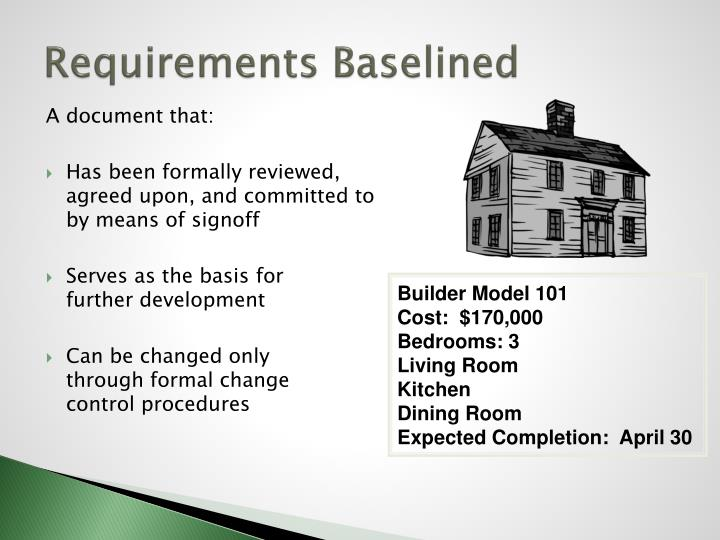 Requirements Baselined