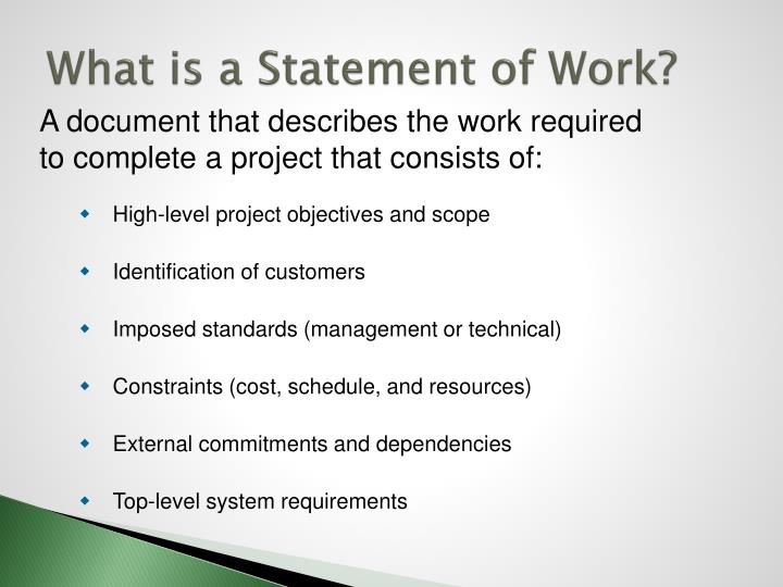 What is a Statement of Work?