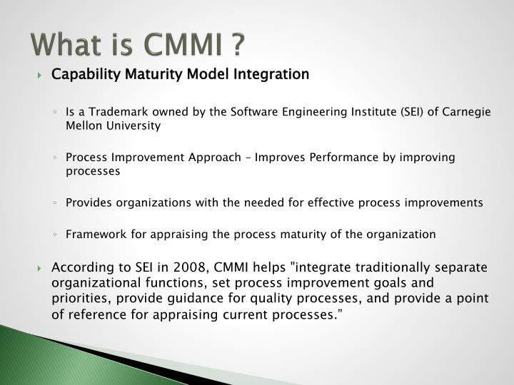 What is CMMI ?